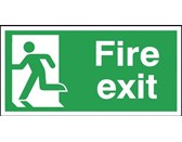 150x300mm Fire Exit Running Man Left - Aluminium
